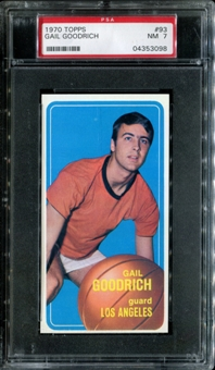 1970/71 Topps Basketball #93 Gail Goodrich PSA 7 (NM) *3098