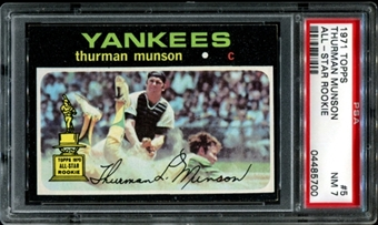 1971 Topps Baseball #5 Thurman Munson PSA 7 (NM) *5700