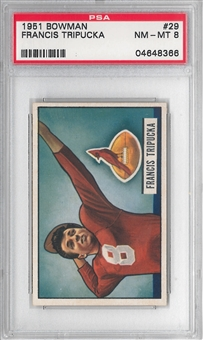 1951 Bowman Football Francis Tripucka PSA 8 (NM-MT) *8366