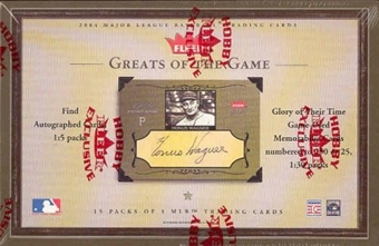 2004 Fleer Greats Of The Game Baseball Hobby Box
