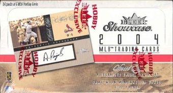 2004 Fleer Showcase Baseball Hobby Box