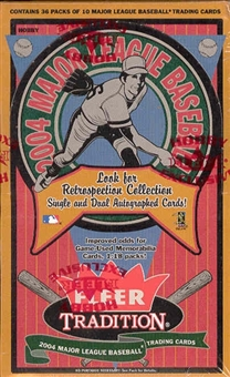 2004 Fleer Tradition Baseball Hobby Box