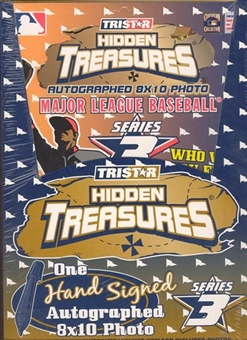 2003 Tristar Hidden Treasures Series 3 Baseball Autographed 8x10s Box