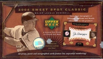 2004 Upper Deck Sweet Spot Classics Baseball Hobby Box
