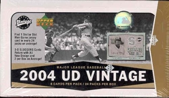 2004 Upper Deck Vintage Baseball Hobby Box