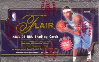 2003/04 Fleer Flair Basketball Hobby Box