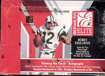 2004 Donruss Elite Football Hobby Box
