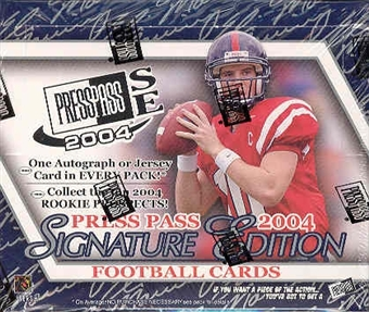 2004 Press Pass Signature Edition Football Hobby Box