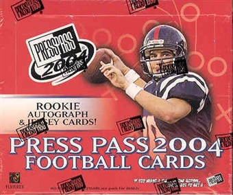 2004 Press Pass Football Hobby Box