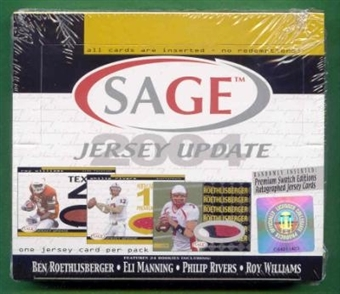 2004 Sage Jersey Update Football Hobby Box