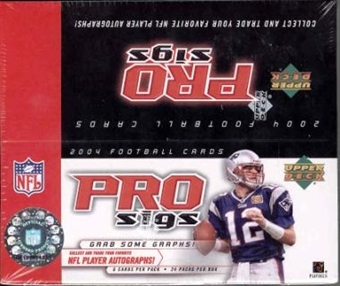 2004 Upper Deck Diamond Collection Pro Sigs Football 24 Pack Box