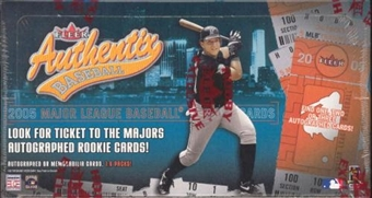 2005 Fleer Authentix Baseball Hobby Box