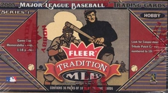 2005 Fleer Tradition Baseball Hobby Box
