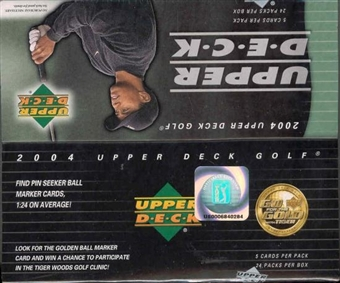 2004 Upper Deck Golf 24 Pack Box