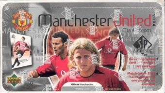 2004 Upper Deck SP Authentic Manchester United Soccer Hobby Box