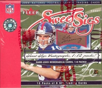 2004 Fleer Sweet Sigs Football Hobby Box