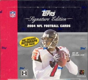 2004 Topps Signature Football Hobby Box