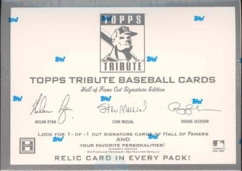 2004 Topps Tribute Hall of Fame Cut Signature Ed. Baseball Hobby Box
