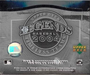 2004 Upper Deck Legends Baseball: Timeless Teams Hobby Box