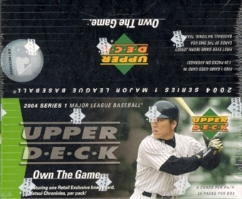 2004 Upper Deck Series 1 Baseball 24 Pack Box