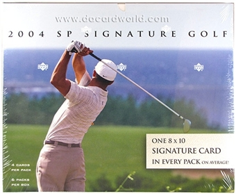 2004 Upper Deck SP Signature Golf Hobby Box