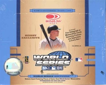 2004 Donruss World Series Baseball Hobby Box