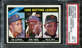 1966 Topps Baseball #215 NL Batting Leaders PSA 7 (NM) *0827