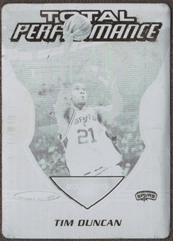 2005/06 Topps Total Performance Press Plates Black #TP11 Tim Duncan 1/1