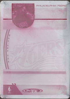 2005/06 Topps Total Press Plates Magenta Back #40 Allen Iverson 1/1