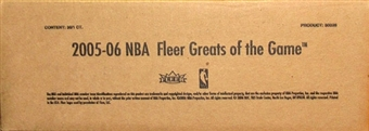 2005/06 Upper Deck Fleer Greats of the Game Basketball 36 Pack Box