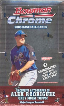 2005 Bowman Chrome Baseball Hobby 18 Pack Lot