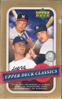 2005 Upper Deck Classics Baseball Hobby Box