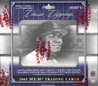 2005 Fleer Classic Clippings Baseball Hobby Box