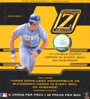 2005 Donruss Zenith Baseball Hobby Box