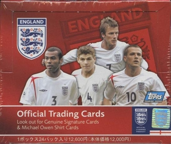 2005 Topps Soccer England Hobby Box (Japan distribution)
