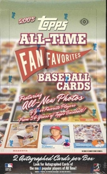 2005 Topps All Time Fan Favorites Baseball Hobby Box