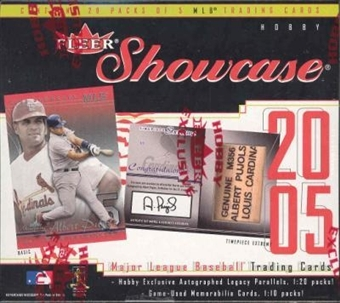 2005 Fleer Showcase Baseball Hobby 20 Pack Lot