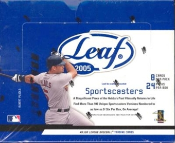 2005 Leaf Baseball Hobby Box