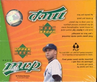 2005 Upper Deck MVP Baseball 24 Pack Box