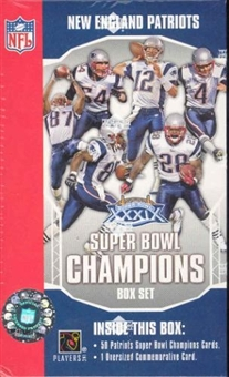 2004 Upper Deck New England Patriots Super Bowl Champions Football Set (Box)