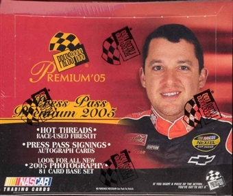 2005 Press Pass Premium Racing Hobby Box