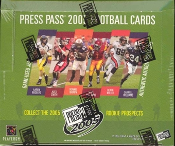 2005 Press Pass Football Hobby Box
