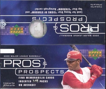 2005 Upper Deck Pros & Prospects Baseball Box