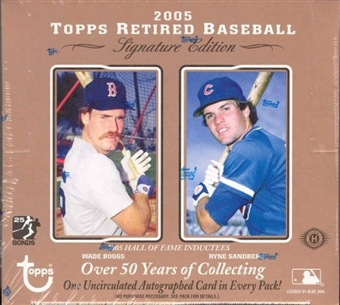 2005 Topps Retired Signature Edition Baseball Hobby Box