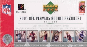2005 Upper Deck Rookie Premiere Football Hobby Set (Box)