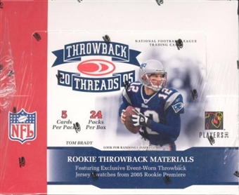 2005 Donruss Throwback Threads Football Hobby Box