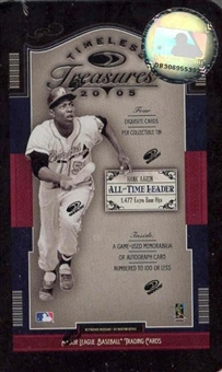 2005 Donruss Timeless Treasures Baseball Hobby (Tin) Box