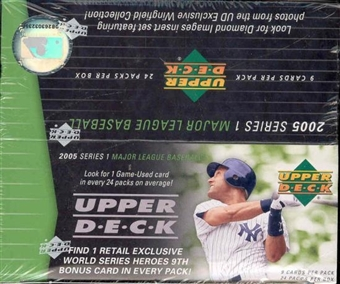 2005 Upper Deck Series 1 Baseball 24 Pack Box