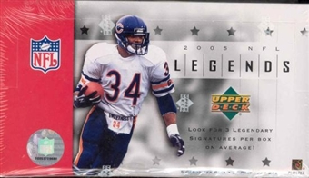 2005 Upper Deck Legends Football Hobby Box