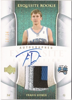 2005/06 Exquisite Collection Rookie Parallel #75AP Travis Diener 18/34 Patch Autograph